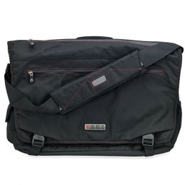 ECBC Trident Messenger Bag w/Adjustable Shoulder Strap (Black) -Fits Up To 14 Notebooks