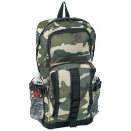 Extreme Pak Camouflage Backpack with Mesh Side Pockets